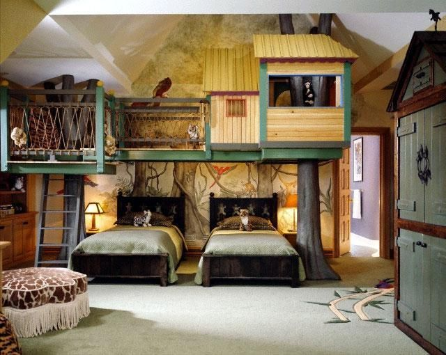 cool interior kids bedroom with the tree house style childrenu0027s room with false e