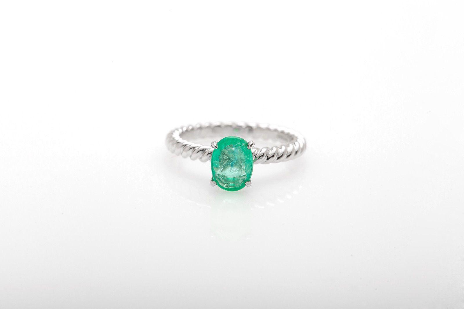 david yurman wedding rings Rare Signed David Yurman 1 50ct Colombian Emerald Wedding Ring 6 Platinum
