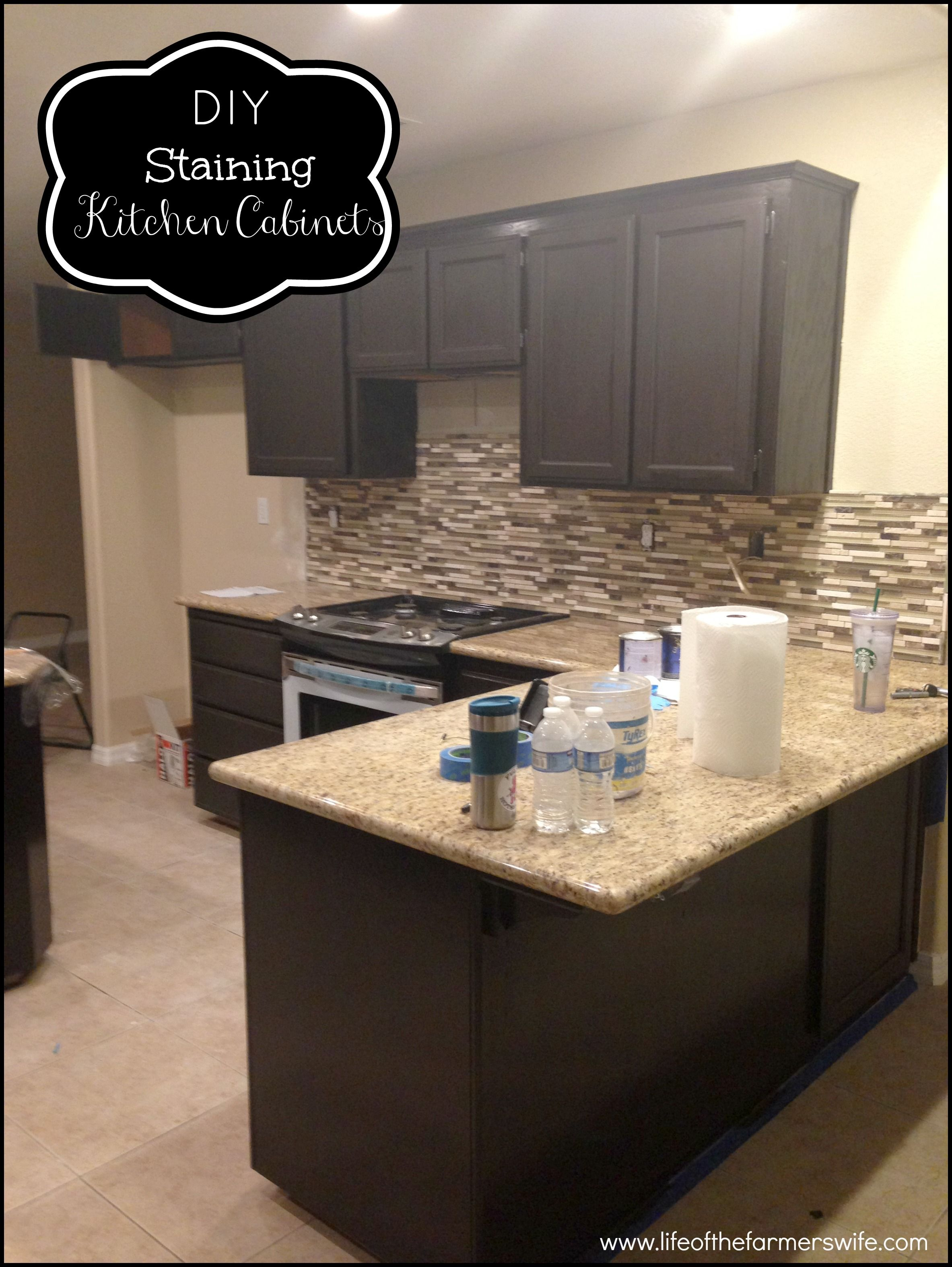 restaining kitchen cabinets a darker color staining kitchen cabinets tea staining unfinished oak cabinet Diy Staining Kitchen Cabinets Dark Espresso Staining