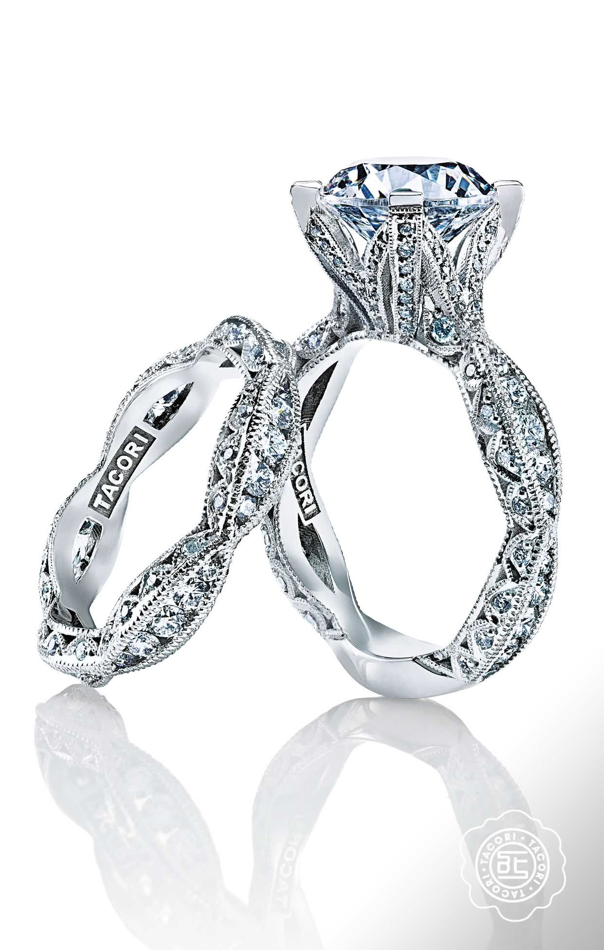 tacori wedding band These just might be the prettiest engagement rings ever The Tacori RoyalT Collection