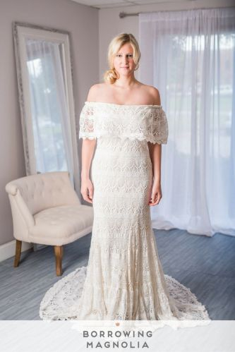 rent wedding dress Daughters of Simone Camille Boho Bohemian wedding dress Rent Daughters of