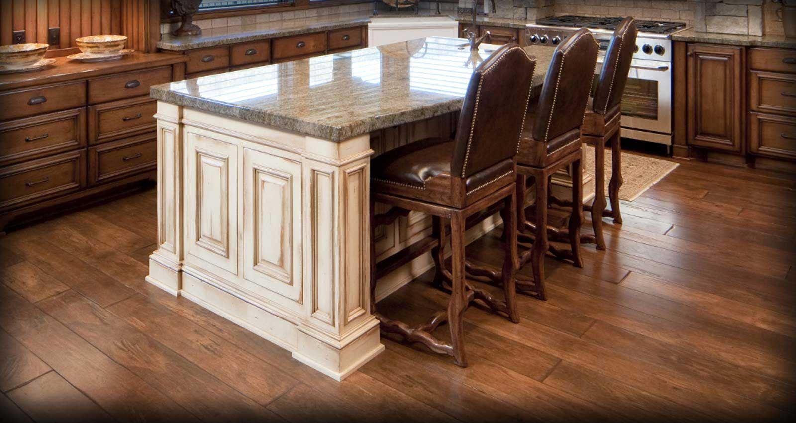 solid wood hardwood wood floor in kitchen