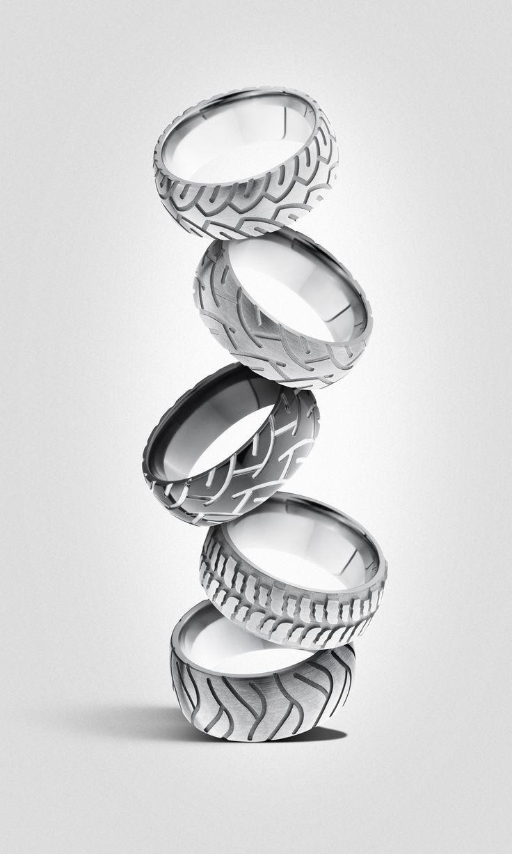 mechanic wedding ring Men s wedding band For the mechanic or car lover Tire rings Men s wedding