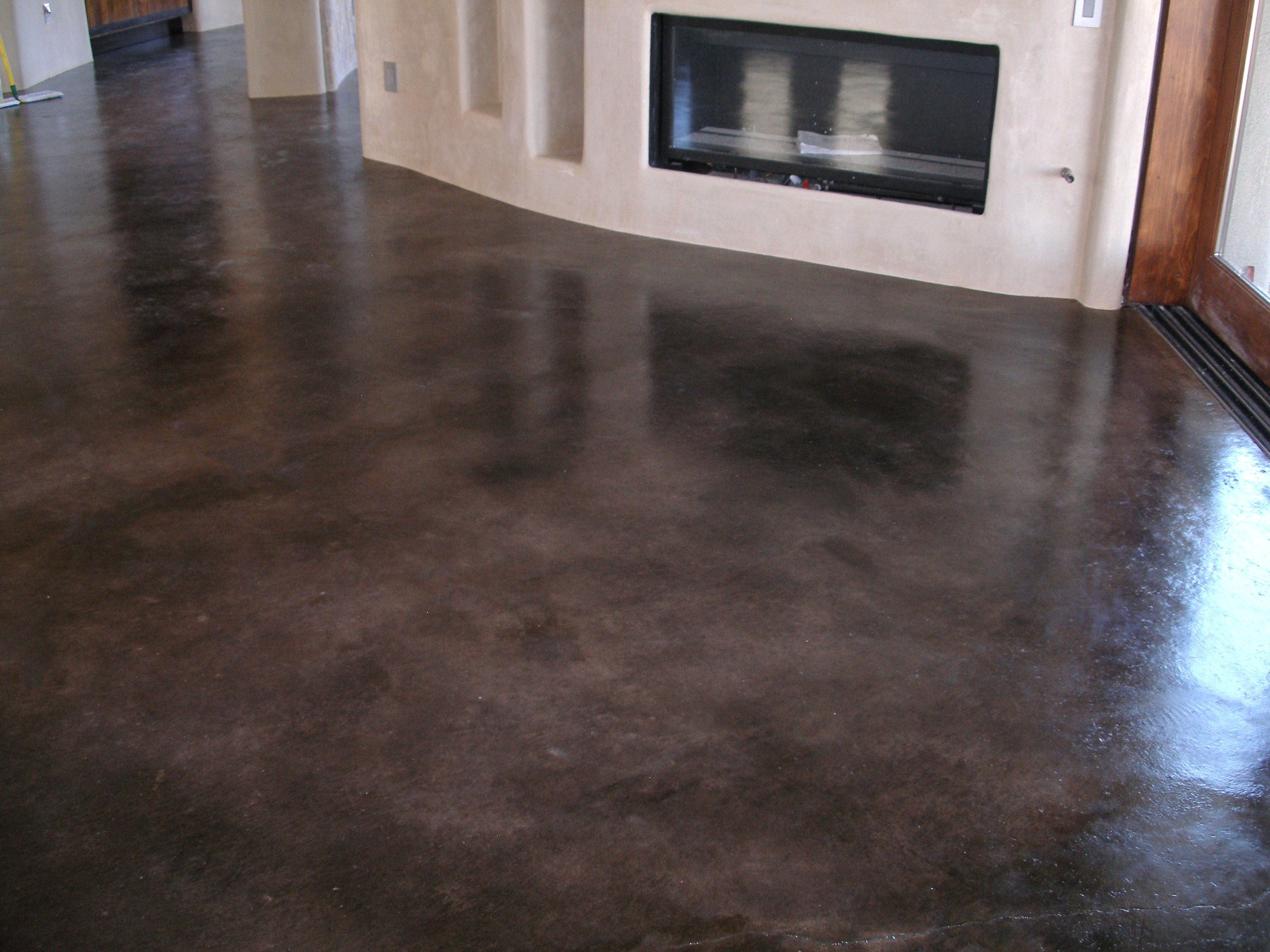concrete kitchen floor Stained Concrete Floors