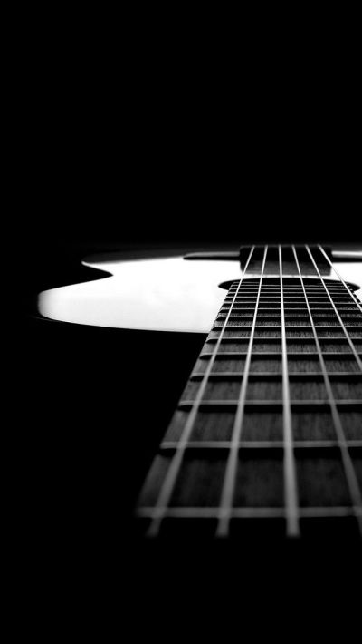 Black and white guitar. Music instrument iPhone wallpapers. Tap to check out more iPhone ...