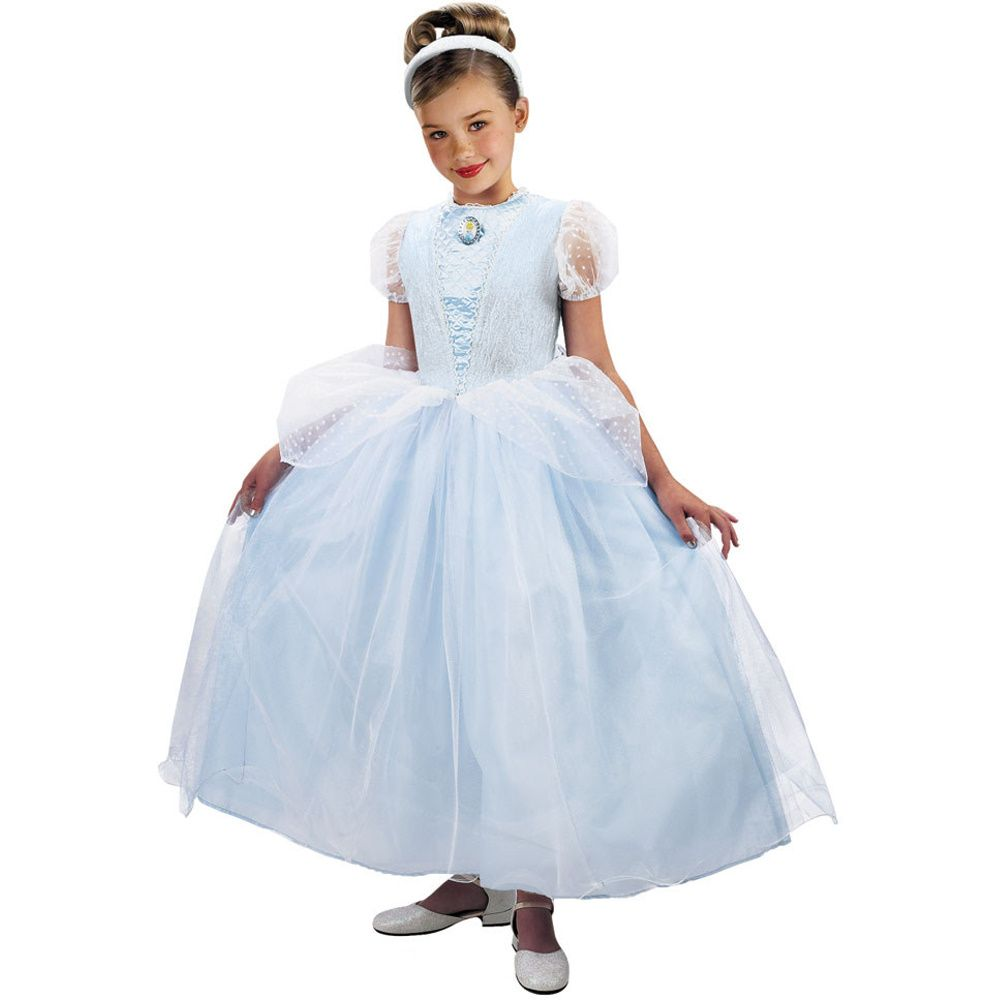 cinderella wedding dress costume Costume Store Cinderella Ball Gown Deluxe Disney Kids Costumes