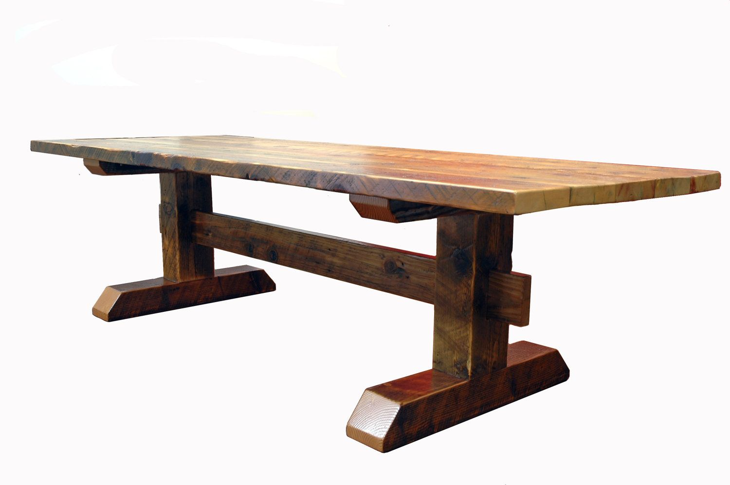 custom kitchen tables Reclaimed Timber Frame Trestle Table Farm Table Custom Item Trestle Dining TablesFarmhouse