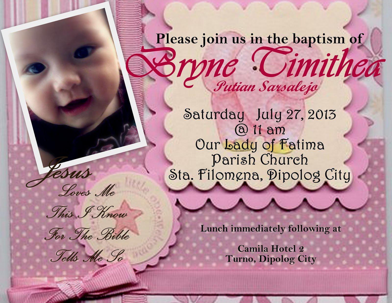 Free Online Baptism Invitation Card Maker Invitations