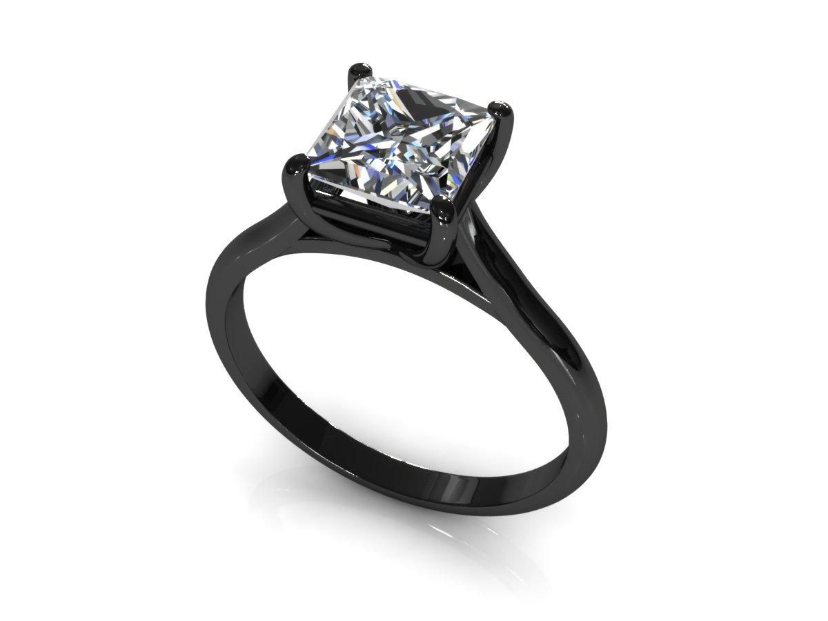 discount wedding rings Wedding Rings Black Band Princess Cut Engagement RingsWedding
