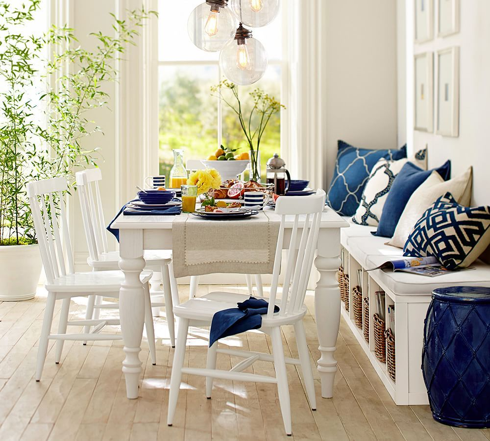 white kitchen table American farmhouse style gives our dining table its welcoming appeal inviting friends and family to gather over long meals and conversation
