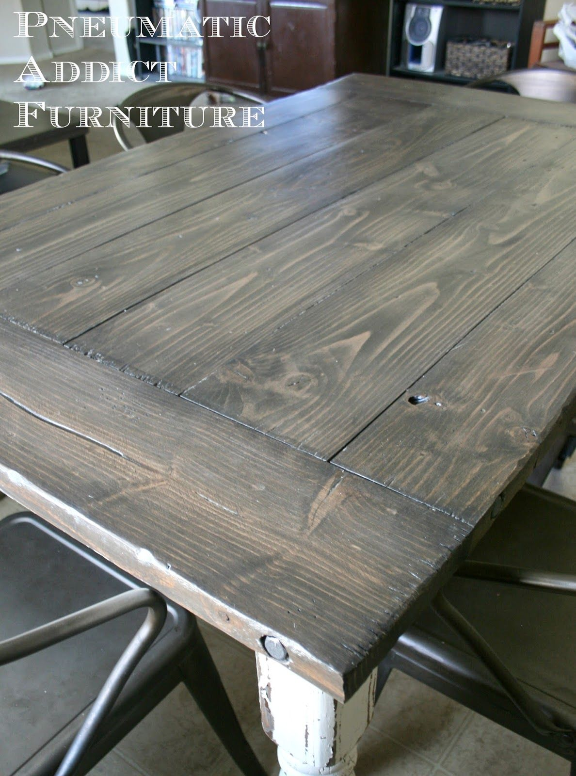 grey wood kitchen table How to Refurbish Your Kitchen Table 7 Steps with Pictures