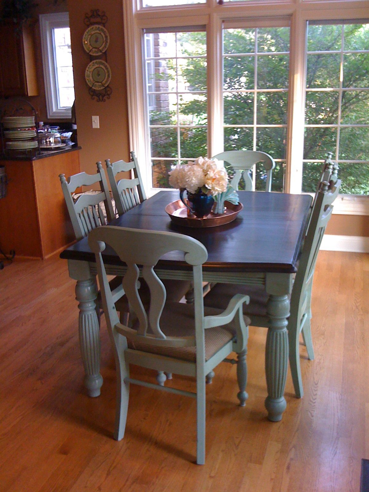 two seat kitchen table annie sloan kitchen table Google Search Painted TablesPainted ChairsPainted