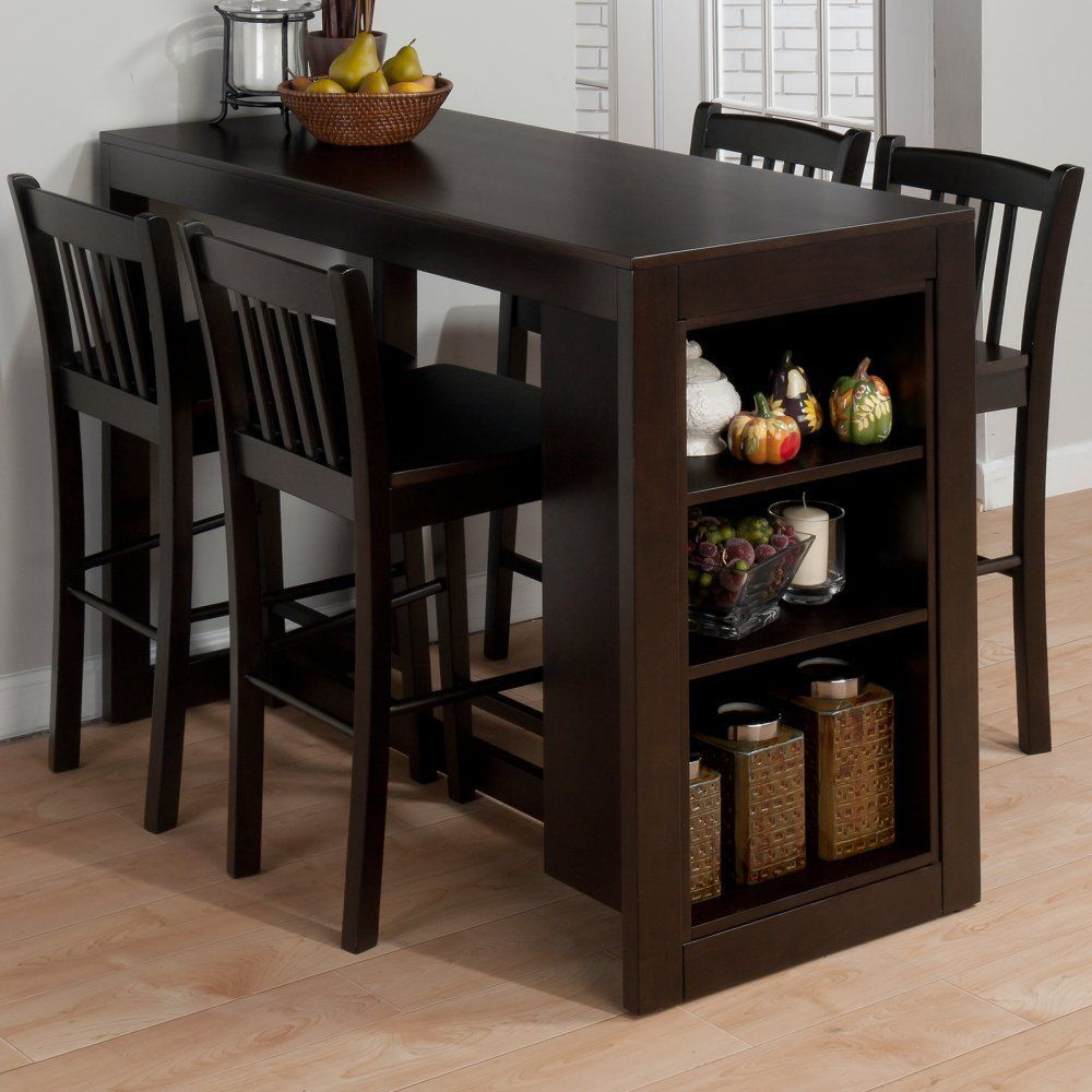 kitchen tables with storage Amazon com Jofran Maryland Counter Height Storage Dining Table Tables