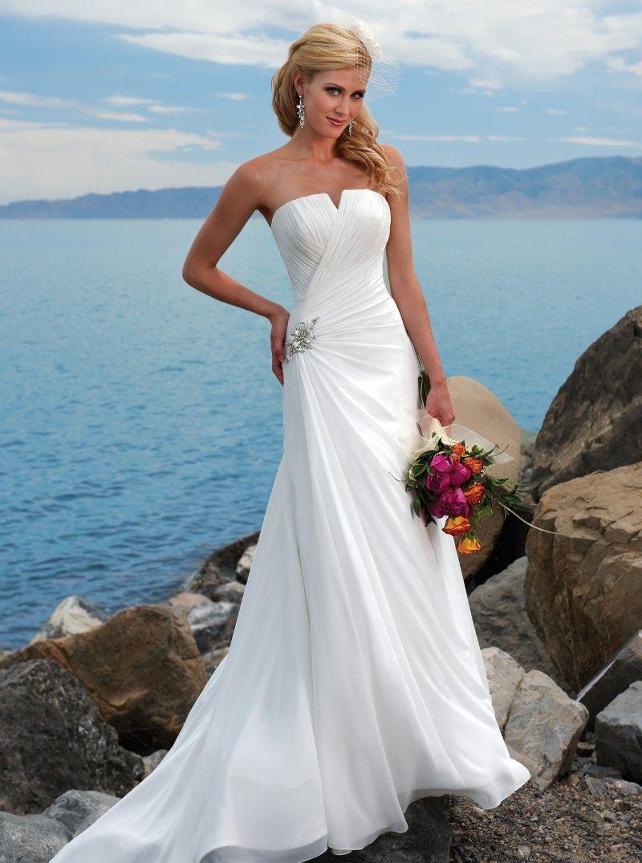 wedding dresses strapless Strapless Wedding Dresses With Diamonds