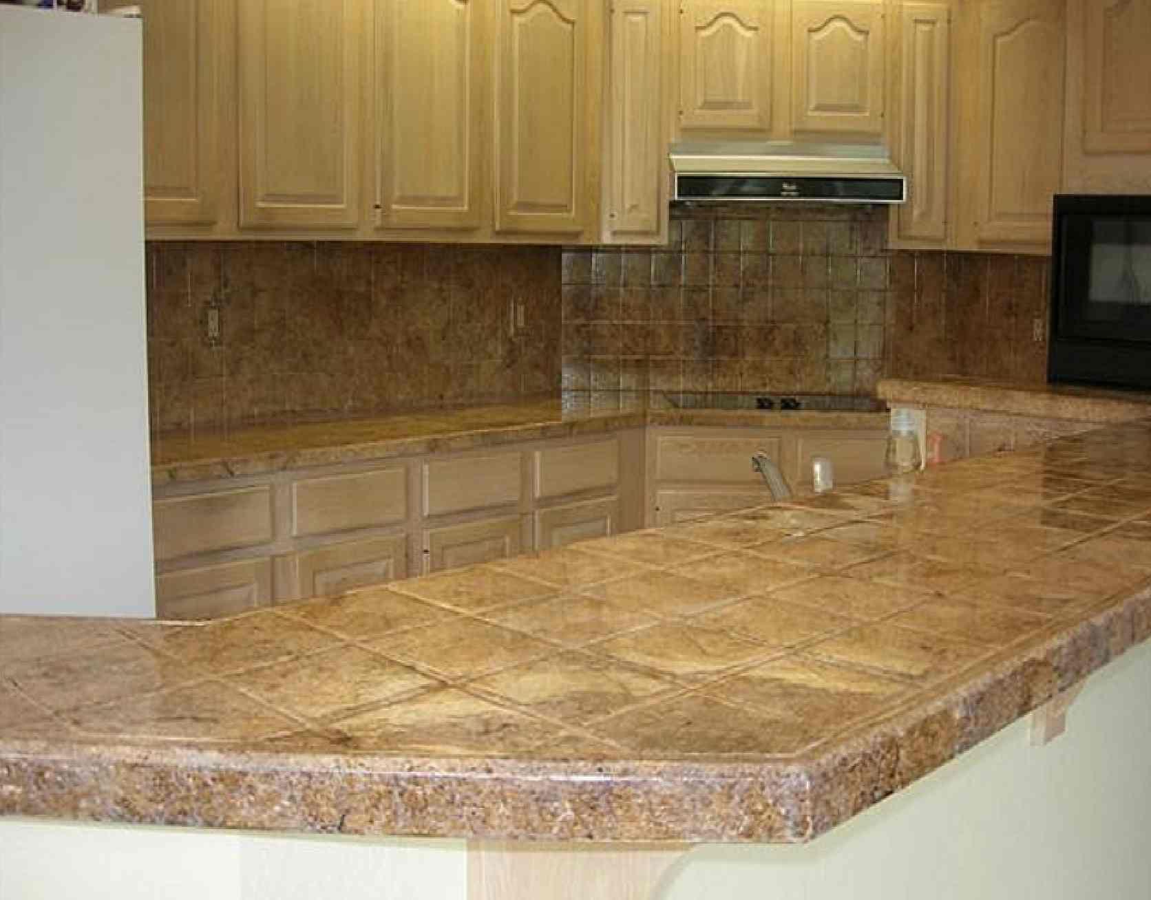 kitchen counter ideas kitchen countertops Tile Kitchen Countertop Design