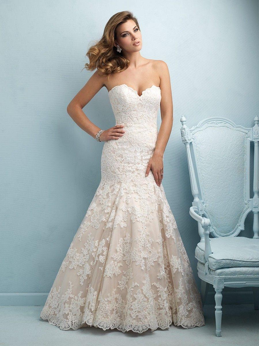 strapless lace wedding dress allure bridals lace wedding dress strapless sweetheart
