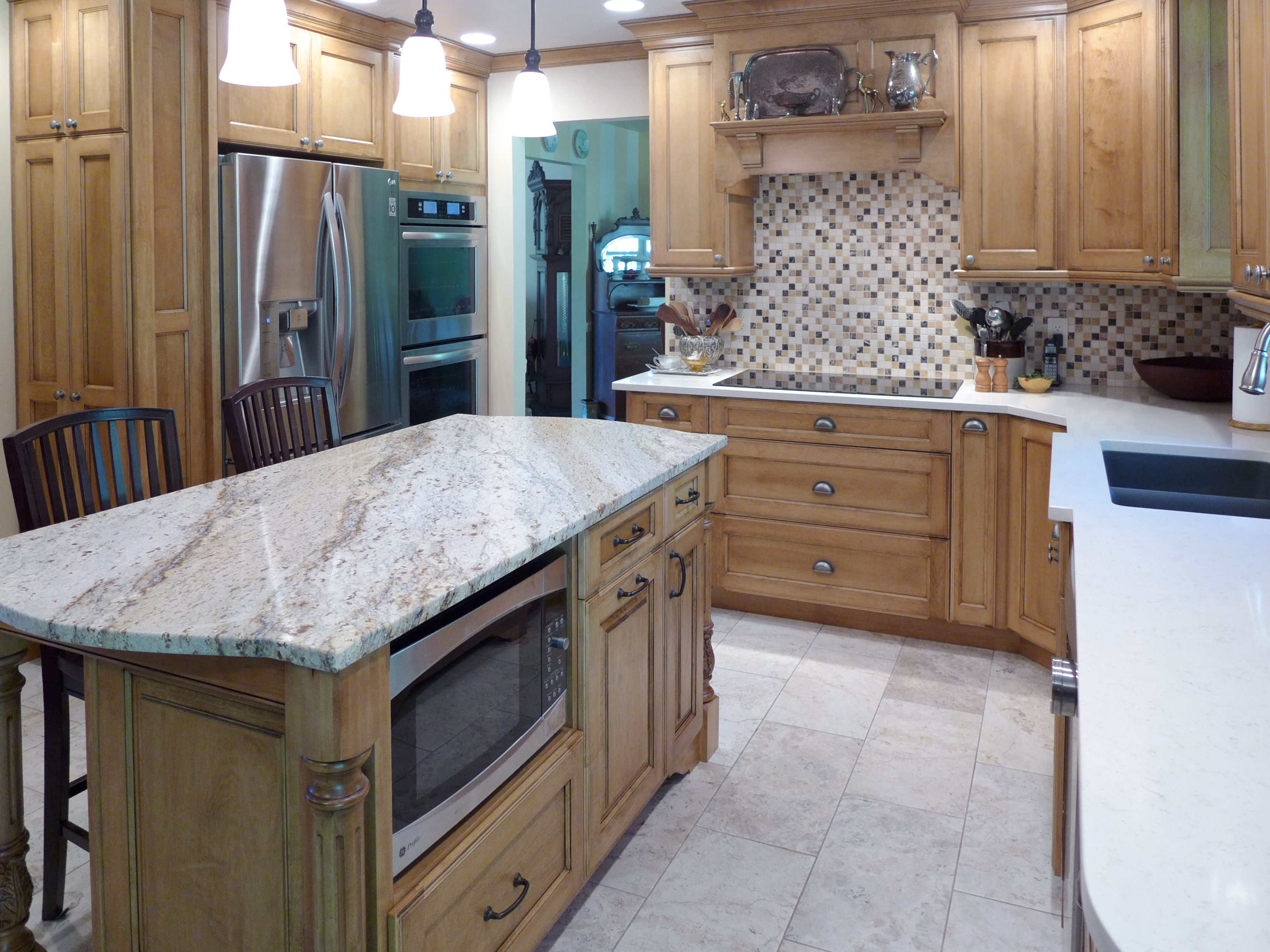 kitchens by accent interiors kitchen remodel utah Kitchen Remodel Vortium Silestone Quartz countertop with a granite island and custom made cabinets