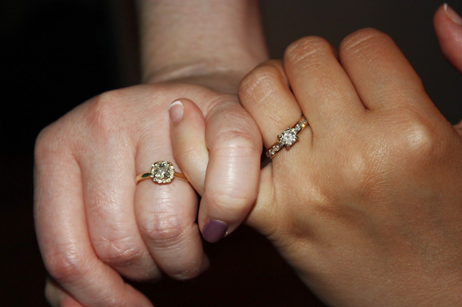 lesbian wedding bands Lesbian wedding Two Bride Engagement rings from Robert Lance Jewelers in Philadelphia on Jewelers Row