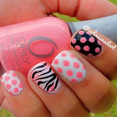 Zebra Nail Designs on Pinterest | Animal Nail Designs, Easy Professional Hairstyles and Cheetah ...