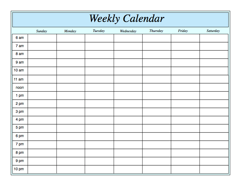 Printable Calendar By Week – printable calendar 2017