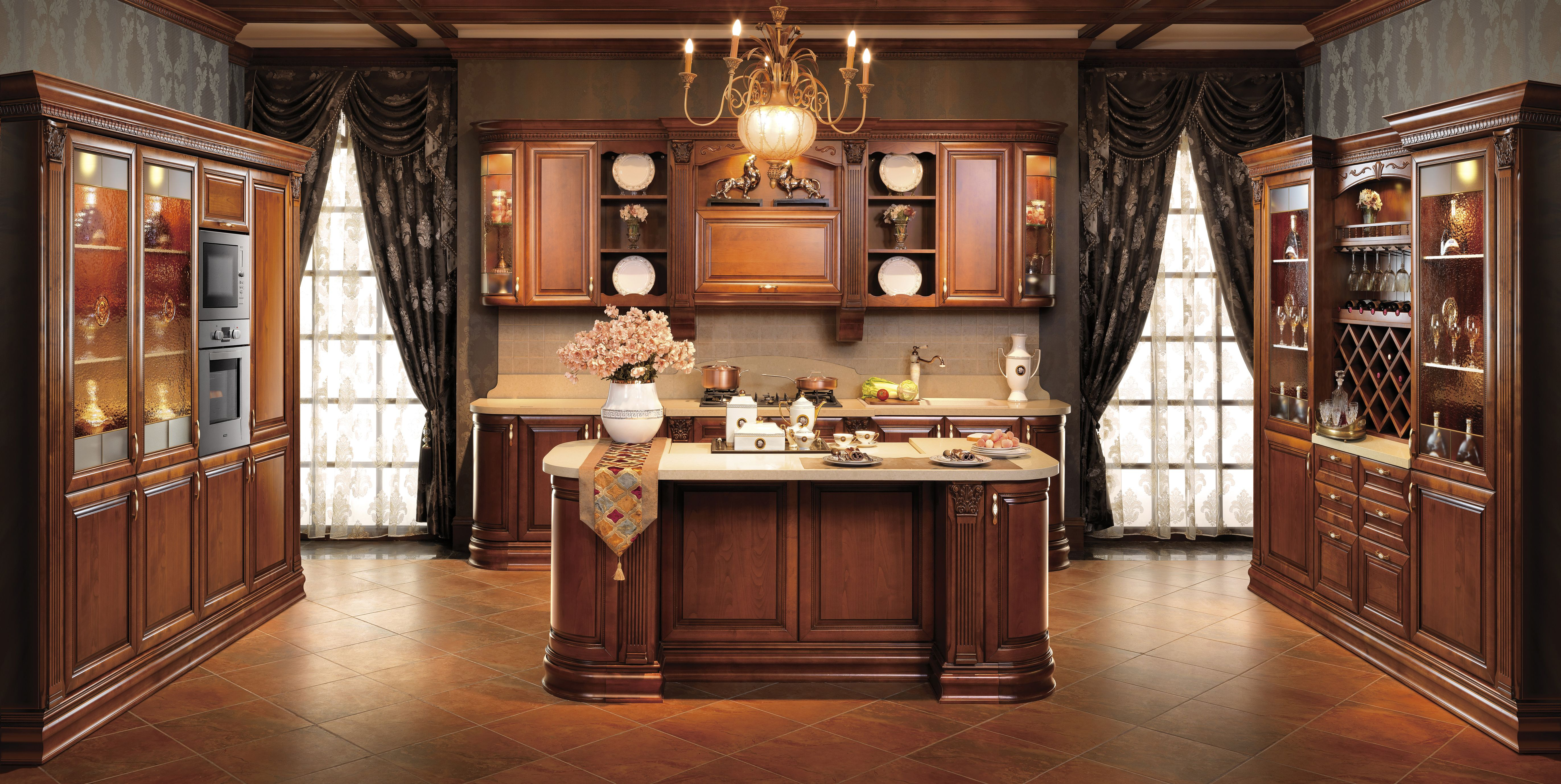 solid wood kitchen cabinets Kitchen Cabinet Solid Wood Cabinets OPPEIN New Style Guangzhou Manufacture OP14