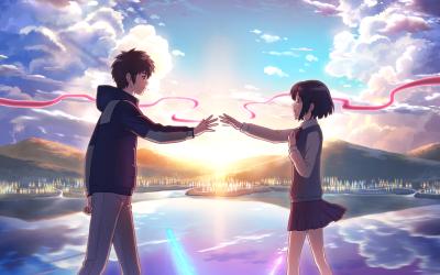 Anime Your Name. Mitsuha Miyamizu Kimi No Na Wa. Taki Tachibana Wallpaper | random | Pinterest ...
