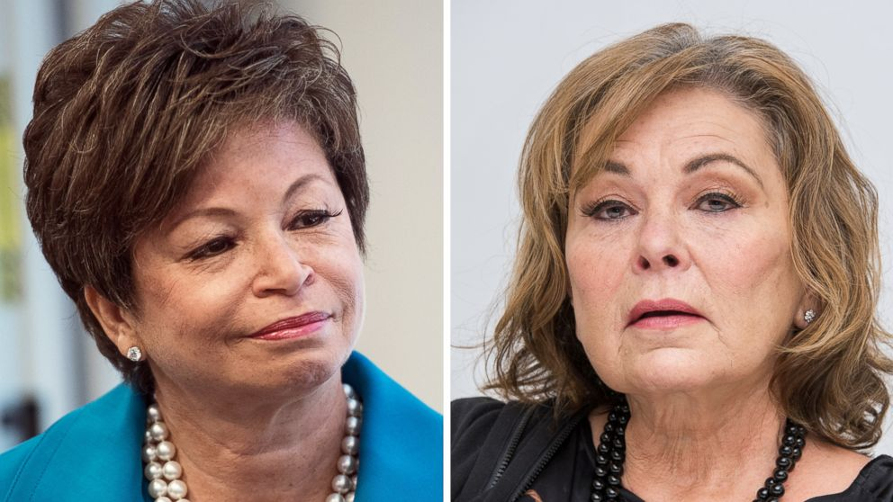 Roseanne  canceled after Roseanne Barr s racist tweet about Valerie      Roseanne  canceled after Roseanne Barr s racist tweet about Valerie  Jarrett   ABC News
