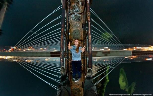 Fotografia tirada em South Bridge, Kiev, Ucrânia (Foto: Reprodução)