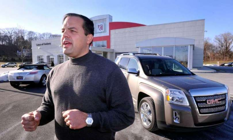 Danbury Saturn dealership stays open  will sell GMC  Buick lines     Todd Ingersoll  owner of Saturn Of Danbury  announcing he is now licesenced  to sell
