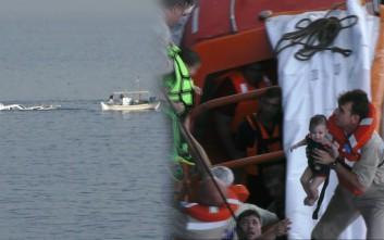 Συγκλονιστικό βίντεο από τη διάσωση προσφύγων στη θάλασσα
