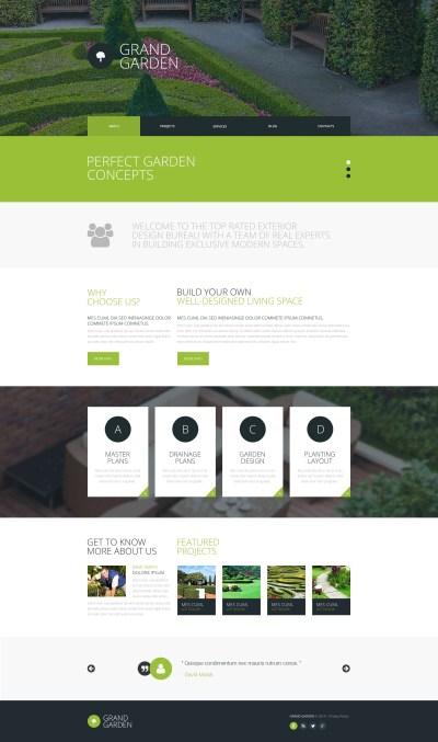 Template Siti Web #51784 per Un Sito di Architettura del Giardino