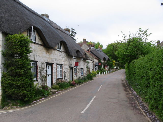 Cottages in Brighstone, including a National Trust museum and shop.