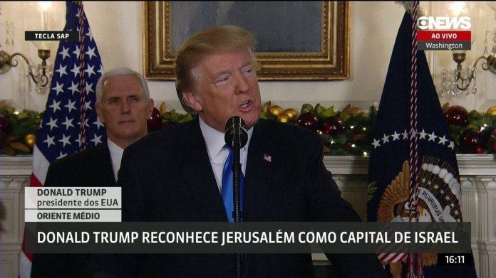 Trump diz que é hora de reconhecer Jerusalém como capital de Israel