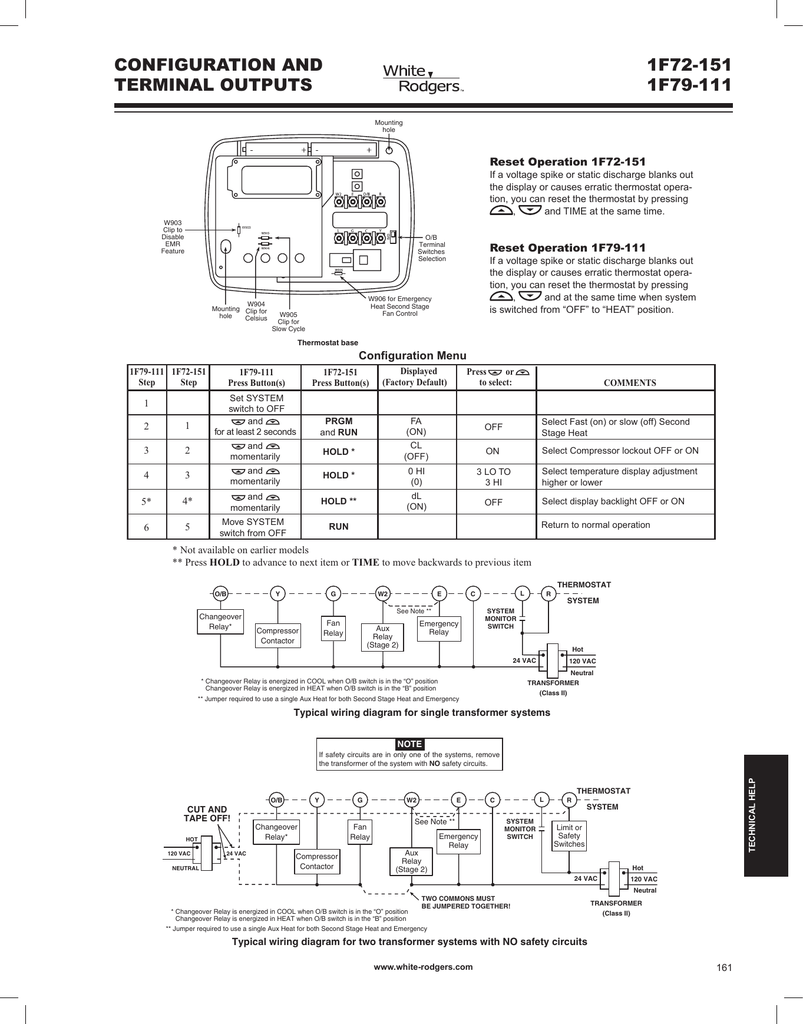 Wiring Diagram For White Rodgers Thermostat 1f78 Free Download Library Reset At