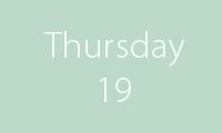 19 Thursday