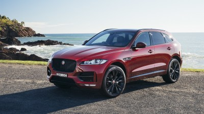 Wallpaper Jaguar F-Pace red SUV car 3840x2160 UHD 4K Picture, Image