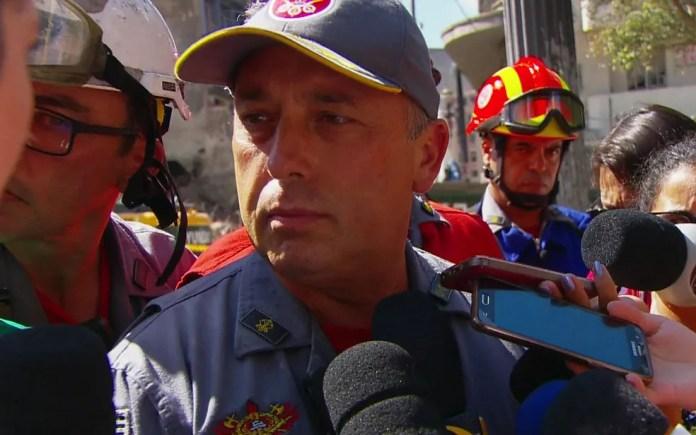 Major Max Mena, comandante dos Bombeiros de São Paulo (Foto: TV Globo/Reprodução)