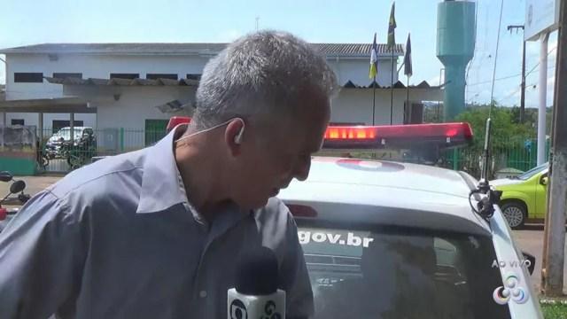 Repórter foi atropelado por uma viatura da PM (Foto: Reprodução Rede Amazônica)
