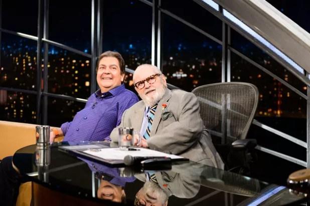 Faustão e Jô Soares juntos no Programa do Jô (Foto: Globo/Ramón Vasconcelos)
