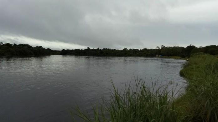 Criança desapareceu no Rio Guaporé, em Rondônia (Foto: Aline Lopes/G1)