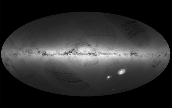 Resultado de imagem para imagens de Trata-se de mapa mais detalhado já produzido da Via Láctea. Satélite Gaia, da Agência Espacial Europeia (ESA), foi lançado há mil dias.