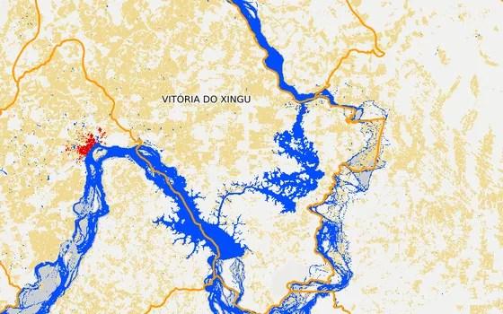 Vitória do Xingu em 2016 (Foto: MapBiomas)
