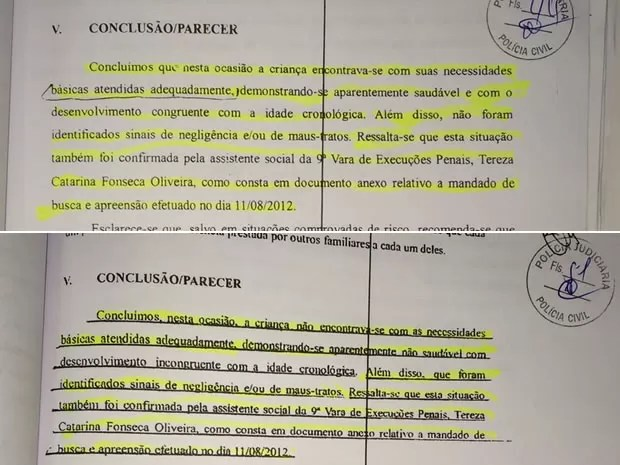Acima o docuemnto original e abaixo o falsificado pelo suspeito (Foto: Divulgação/Polícia Civil de Santarém)