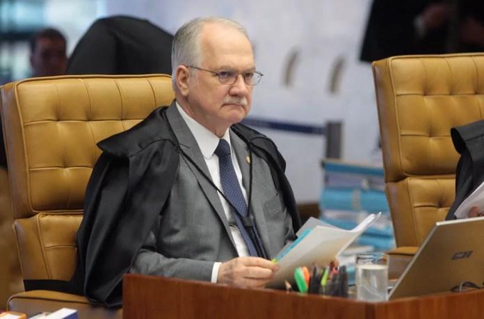 O ministro Luiz Edson Fachin durante a sessão do STF na última semana (Foto: Carlos Moura, STF)