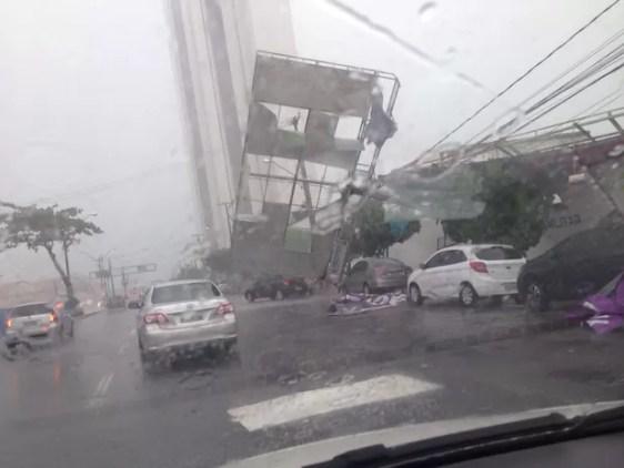 chuva transtorno recife (Foto: Reprodução Whatsapp)