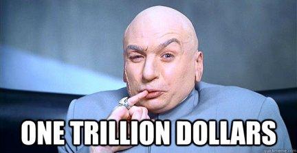 Image result for one trillion dollars meme