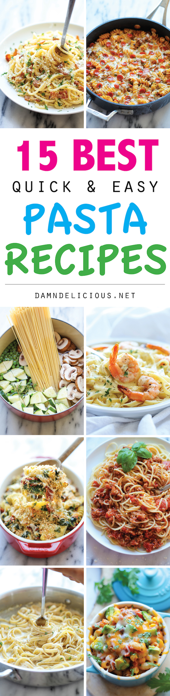 Particular Quick Easy Pasta Recipes From One Pot Meals To Min Dishes Quick Fall Pasta Recipes Nytimes Easy Pasta Recipes Damn Delicious Pasta Recipes nice food Best Pasta Recipes