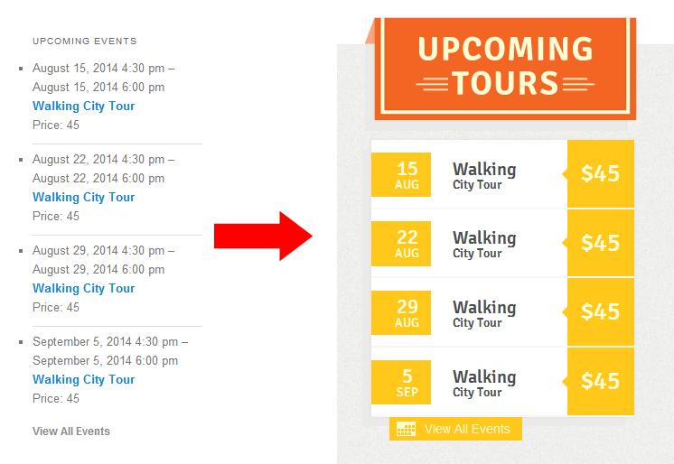 tribe events calendar widget change