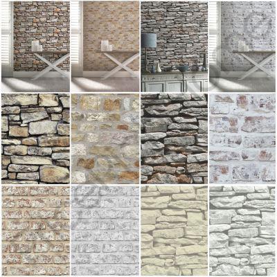 ARTHOUSE RUSTIC STONE EFFECT WALLPAPER - BRICK, MORROCAN WALL, CORNISH STONE   eBay
