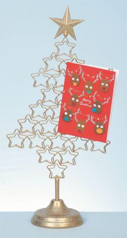 Pretentious Metal Tree Card Her Xmas Freestanding Display Card Her Door Card Her Stand